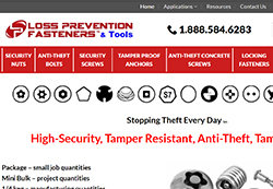 Loss Prevention Fasteners